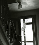 Black and white photograph that Nini Lyons took of Jane and Beth's house during Jane's illness