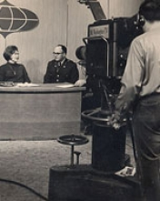 Jane Chambers in her days as a newscaster for Channel 8 in Portland, ME.